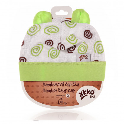 Czapka bambusowa XKKO BMB - Lime Spirals