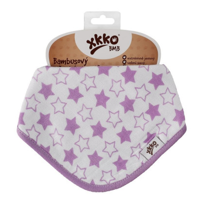 Bandanka bambusowa XKKO BMB - Little Stars Lilac