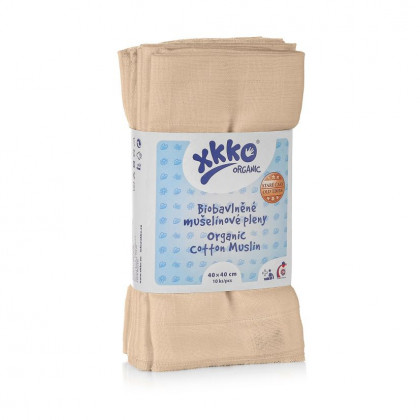 Pieluszki XKKO Organic 40x40 - Stare Czasy Natural
