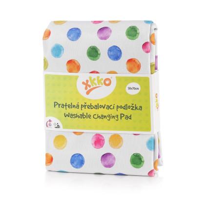 Zmywalny przewijak XKKO 50x70 - Watercolour Polka Dots