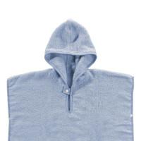 Ponczo kąpielowe z bawełny organicznej XKKO Organic - Baby Blue Stars