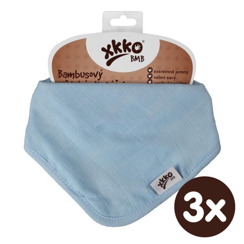 Bandanka bambusowa XKKO BMB - Baby Blue 3x1szt. (Hurtowe opak.)