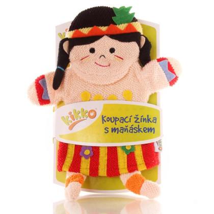 XKKO Pacynka kąpielowa (BA) - Little Indian Girl