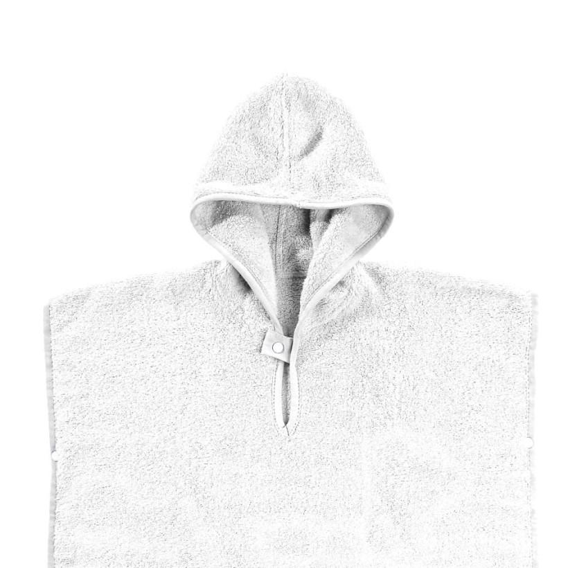Ponczo kąpielowe z bawełny organicznej XKKO Organic - White Stars