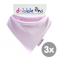 Dribble Ons Classic - Baby Pink 3x1szt. (Hurtowe opak.)