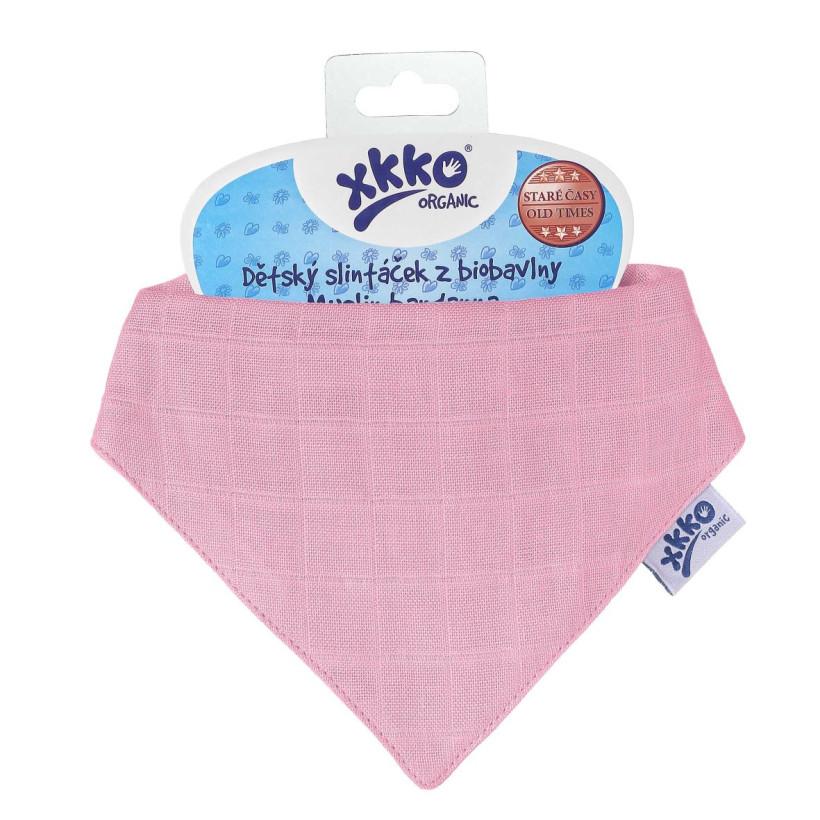Bandanka XKKO Organic Stare Czasy - Light Pink
