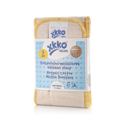 XKKO Organic Old Times Wkład chłonny - Natural Rozmiar S 2 szt.