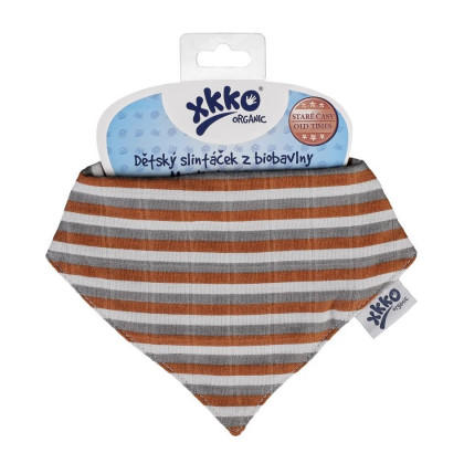 Bandanka XKKO Organic Stare Czasy - Brown Stripes