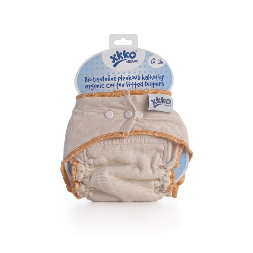Wielorazowe pieluszki formowane XKKO Organic - Natural Rozmiar S 5x1szt. (Hurtowe opak.)