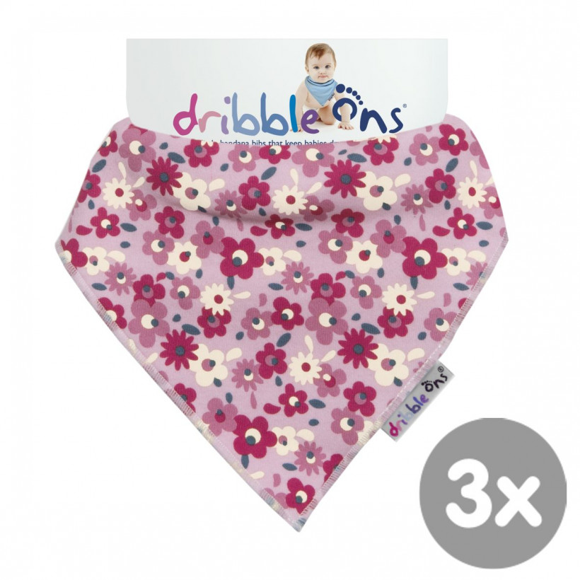 Dribble Ons Designer - Floral Ditsy 3x1szt. (Hurtowe opak.)