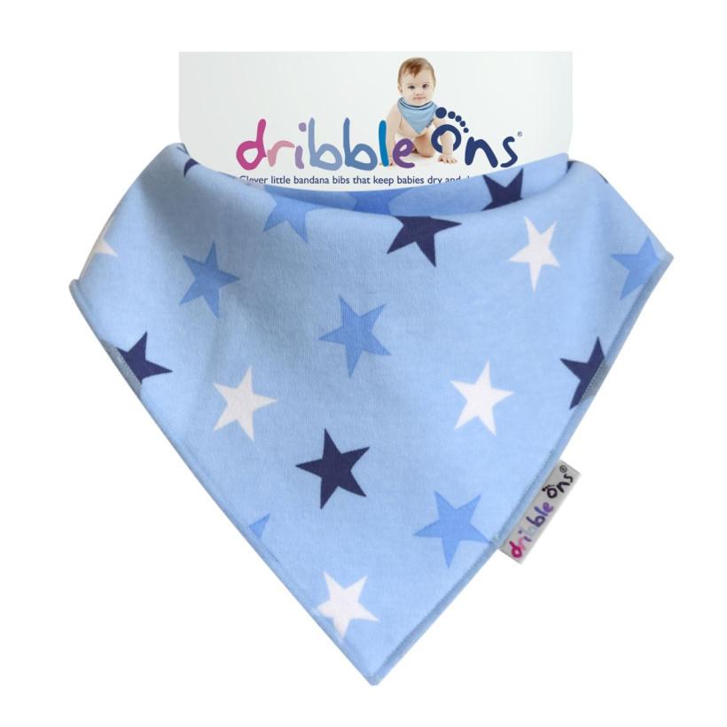 Dribble Ons Designer - Blue Stars
