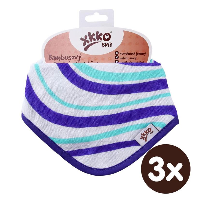 Bandanka bambusowa XKKO BMB - Ocean Blue Waves 3x1szt. (Hurtowe opak.)
