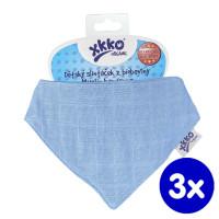 Bandanka XKKO Organic Stare Czasy - Ocean Blue 3x1szt. (Hurtowe opak.)