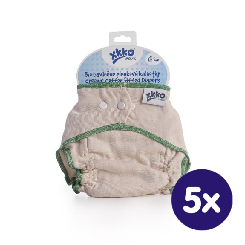 Wielorazowe pieluszki formowane XKKO Organic - Natural Rozmiar  L 5x1szt. (Hurtowe opak.)