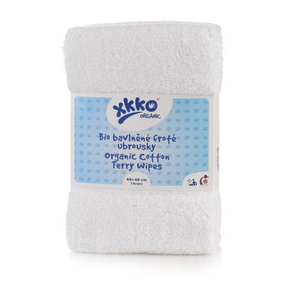 Frotte serwetki XKKO Organic 40x40 - White
