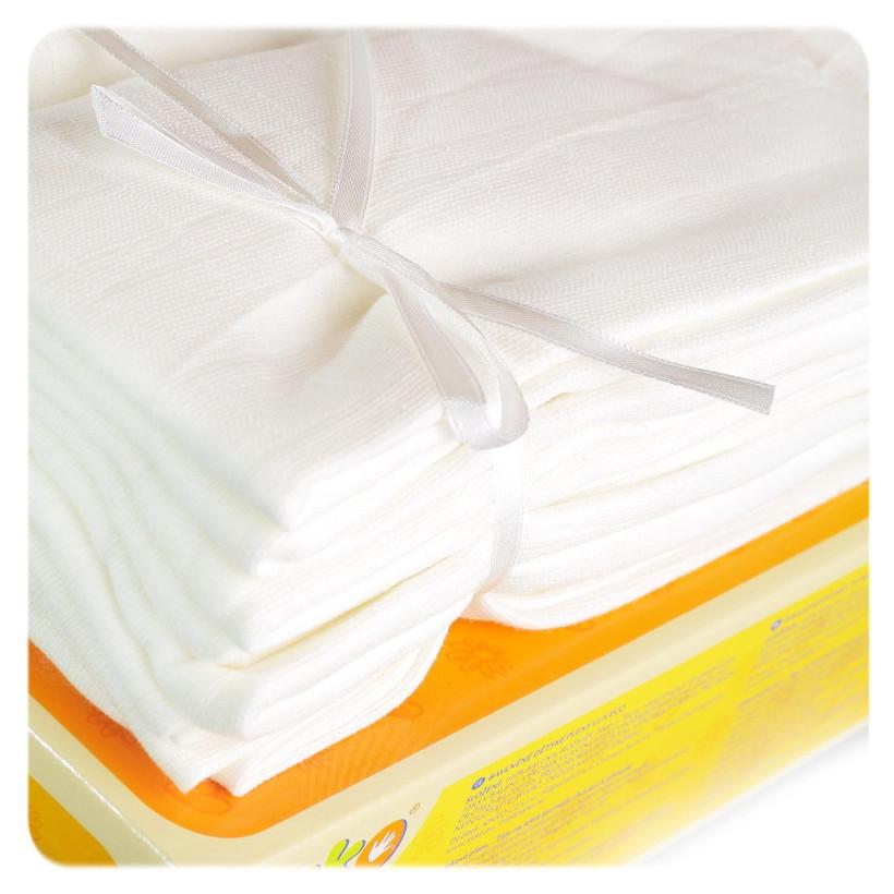 Bawełniane pieluchy muślinowe o dużej gęstości XKKO LUX ECO 70x70 - Natural