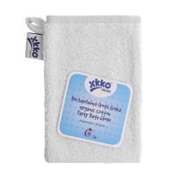 Rękawica kąpielowa z bawełny organicznej XKKO Organic - White