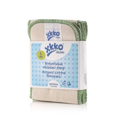 XKKO Organic Twill Wkład chłonny - Natural Rozmiar L 6 szt.