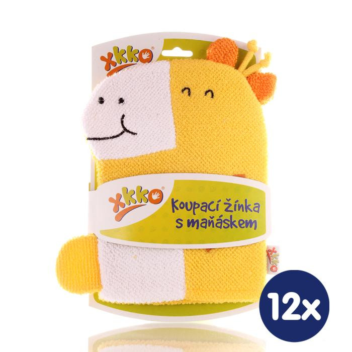 XKKO Pacynka kąpielowa (BA) - Giraffe 12x1szt. (Hurtowe opak.)