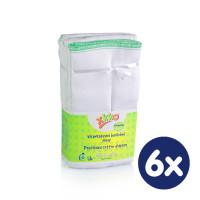 Prefoldy XKKO Classic (4/8/4) - Premium Białe 6x6szt. (Hurtowe opak.)