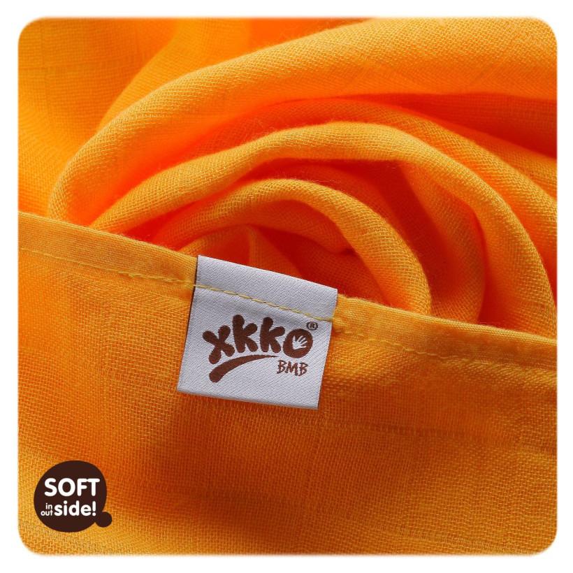 Bambusowe pieluchy XKKO BMB 70x70 - Orange 10x3st. (Hurtowe opak.)