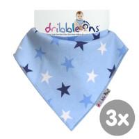 Dribble Ons Designer - Blue Stars 3x1szt. (Hurtowe opak.)
