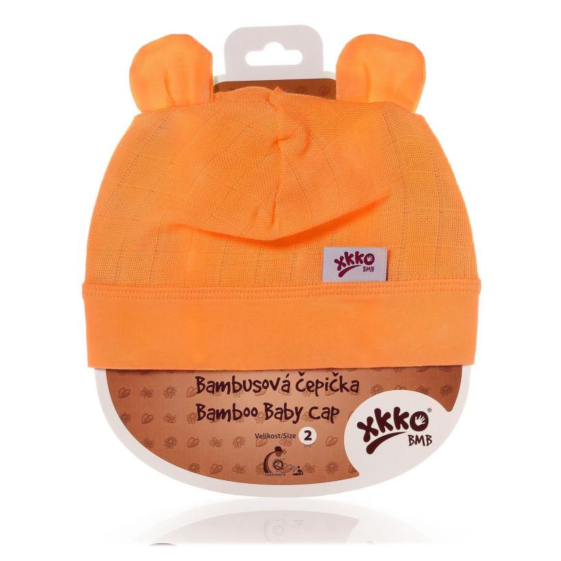 Czapka bambusowa XKKO BMB - Orange 3x1szt. (Hurtowe opak.)